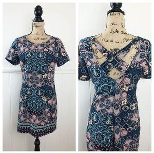 Hollister Pink, Blue Floral Dress
